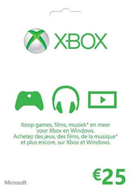 Xbox Live 25 Euro Gift Card