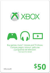 Official Xbox Live 50 USD Gift Card