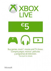 Official Xbox Live 5 Euro Gift Card