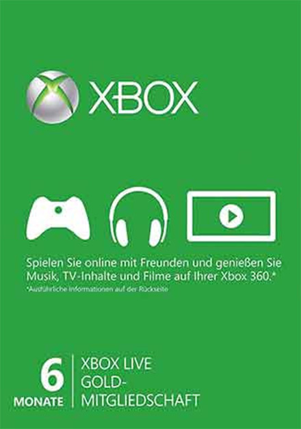 Official Xbox Live 6 month Gold Subscription Card [Xbox 360/Xbox One]