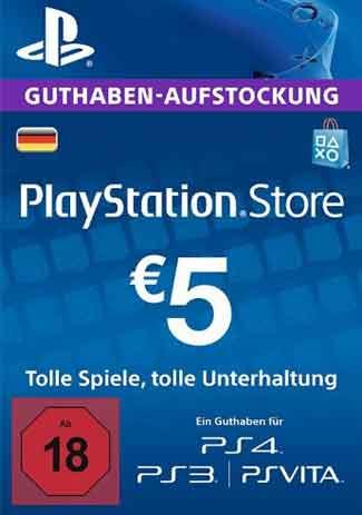 Official PSN 5 EUR / PlayStation Network Gift Card DE Store