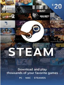 Official Steam Game Card 20 EUR