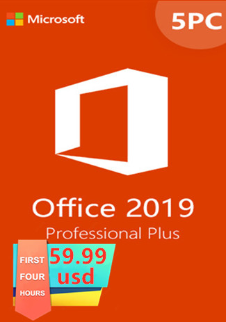 Official Microsoft Office 2019 Professional Plus CD-KEY (5PC)