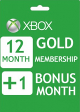 Xbox Live 12+1 Months Gold Membership Card Global