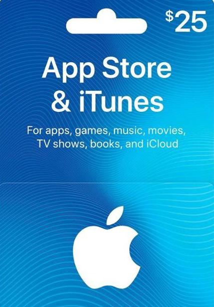 Official Apple iTunes $25 Gutschein-Code US iPhone Store